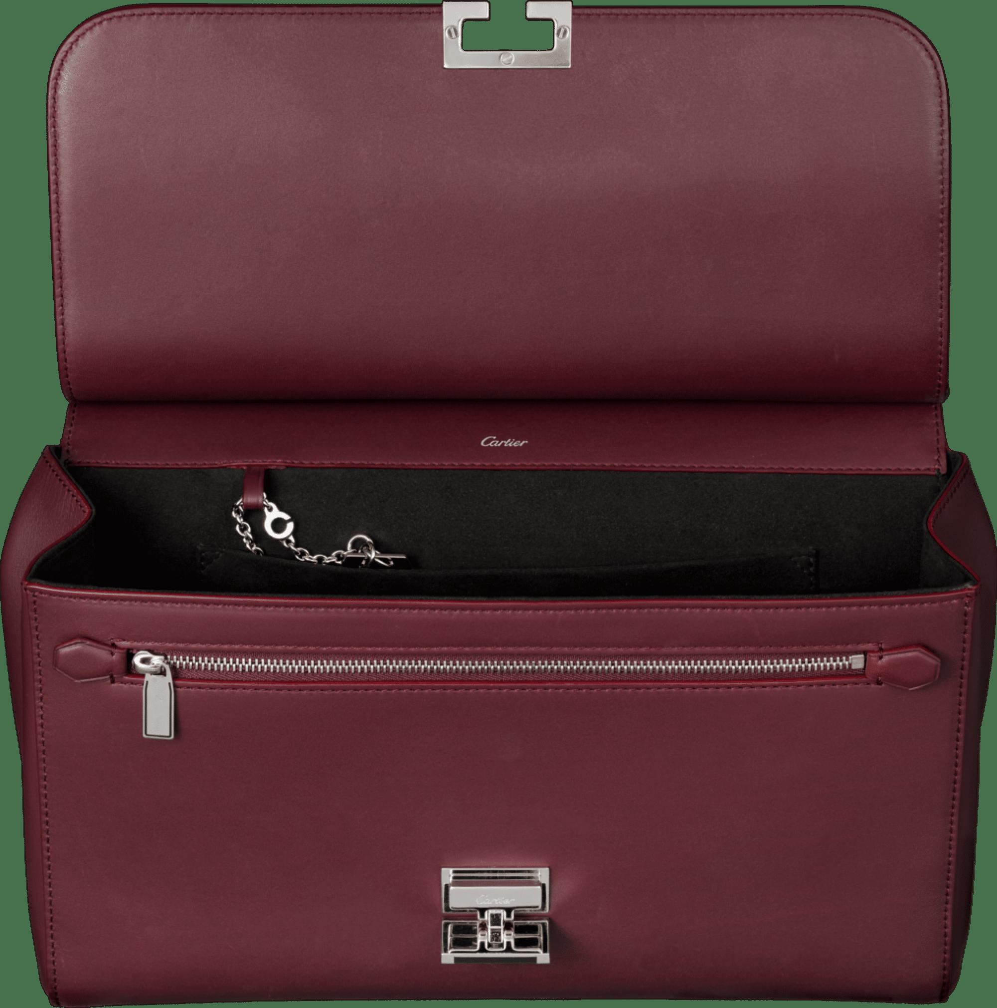 cartier-jeanne-toussaint-handbag-burgundy-open