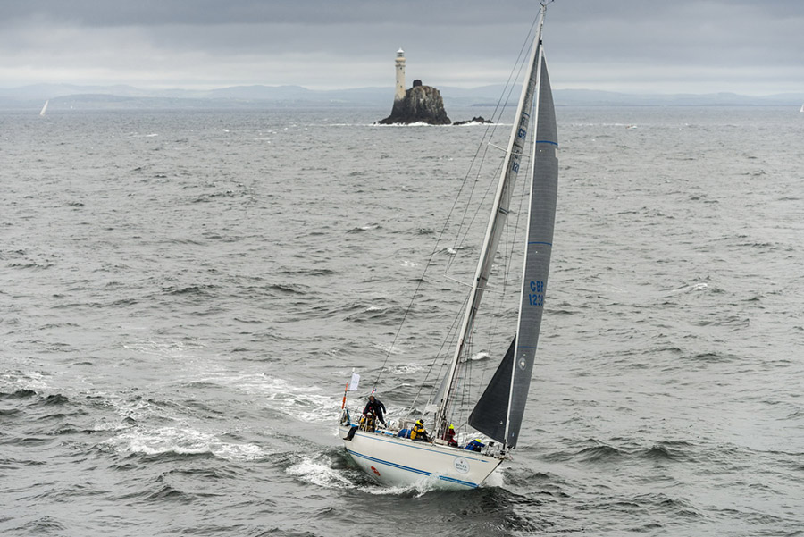 Rounding the Fastnet Rock SARABANDE, GBR 1238, Owner / Skipper: Rob Mably, Design: Swan 47 Mk 2, Class: IRC 3