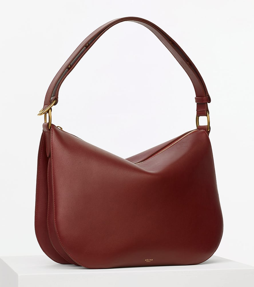 Celine-Medium-Saddle-Bag-Burgundy-2550
