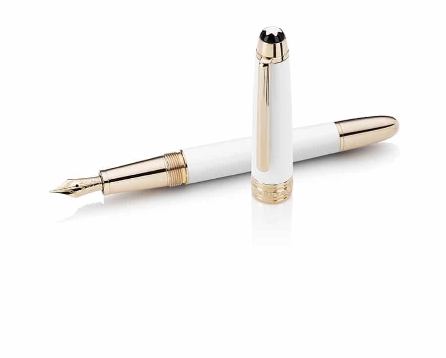 Montblanc-White-Solitaire-Fountain-Pen