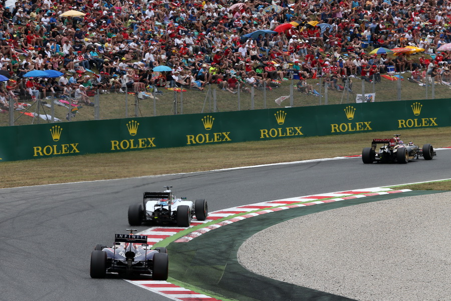 Race.  Sebastian Vettel (GER) Red Bull Racing.  Felipe Massa (BRA) Williams F1 Team.  Romain Grosjean (FRA) Lotus F1 Team.