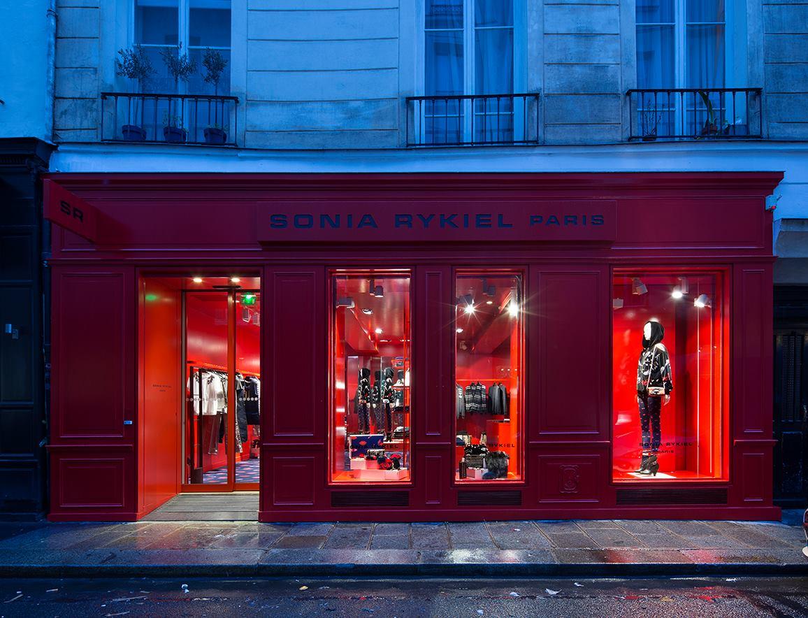 Sonya Rykiel red boutique in Paris