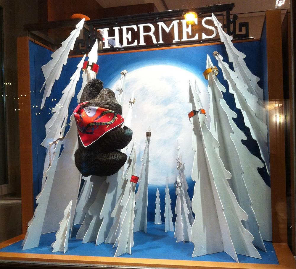 Витрины Hermes. Зима 2015