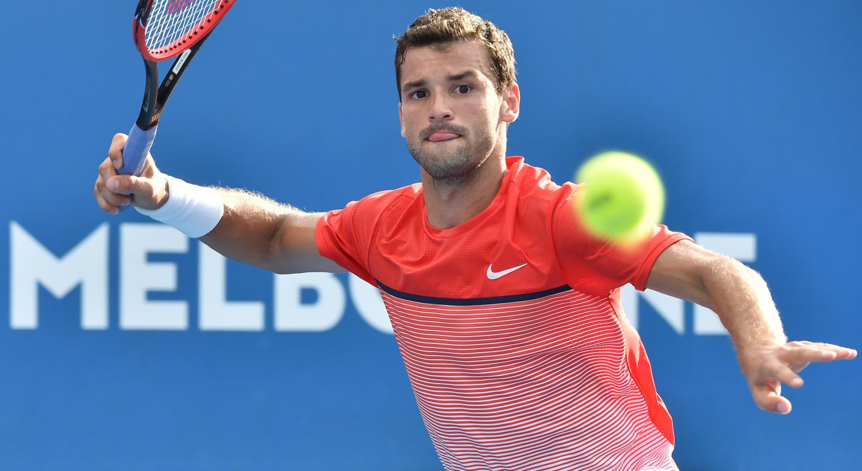 Grigor Dimitrov - Nike t-shirt - Australian Open 2016