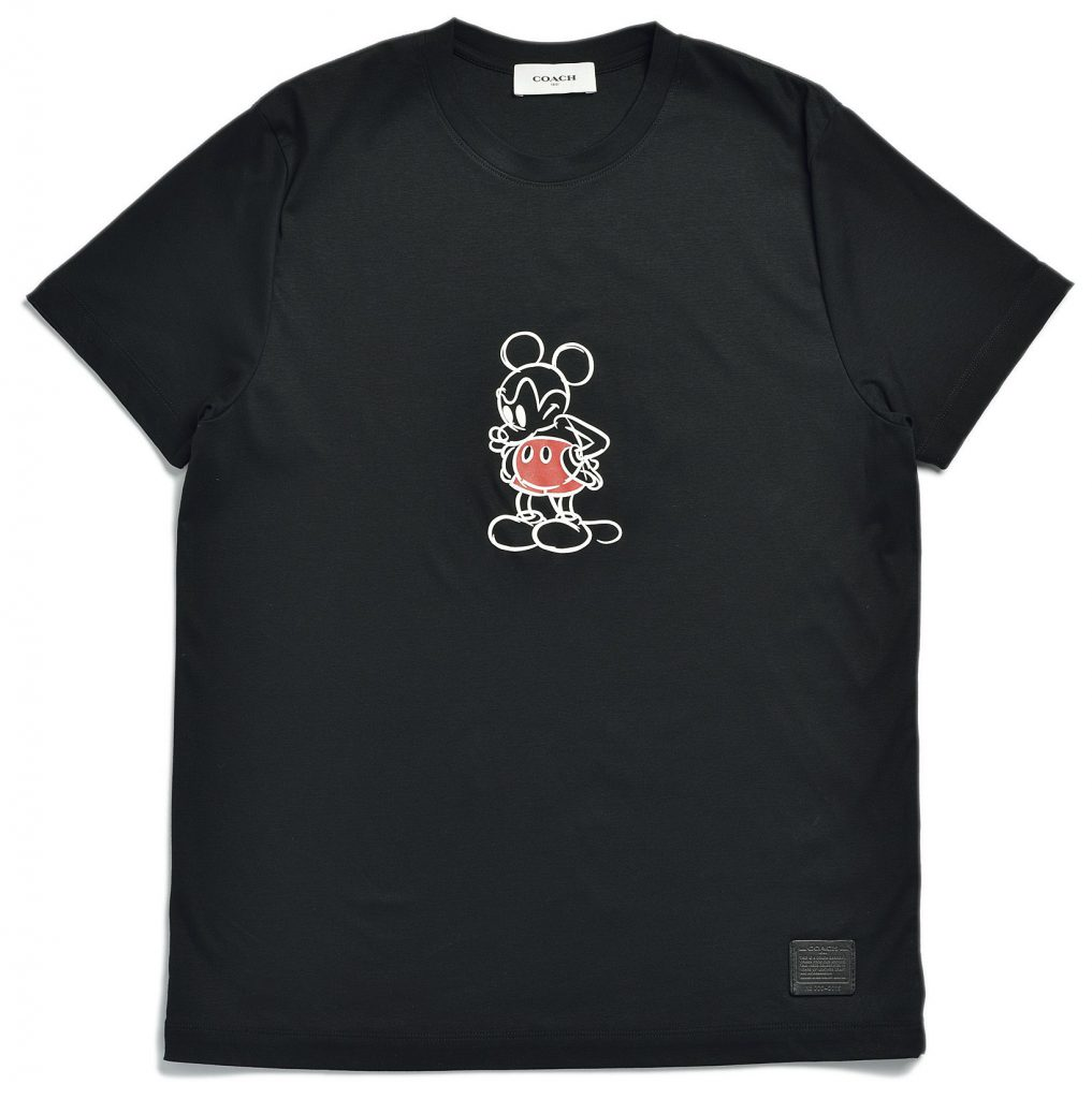 Disney and Coach work together. Black t-shirt