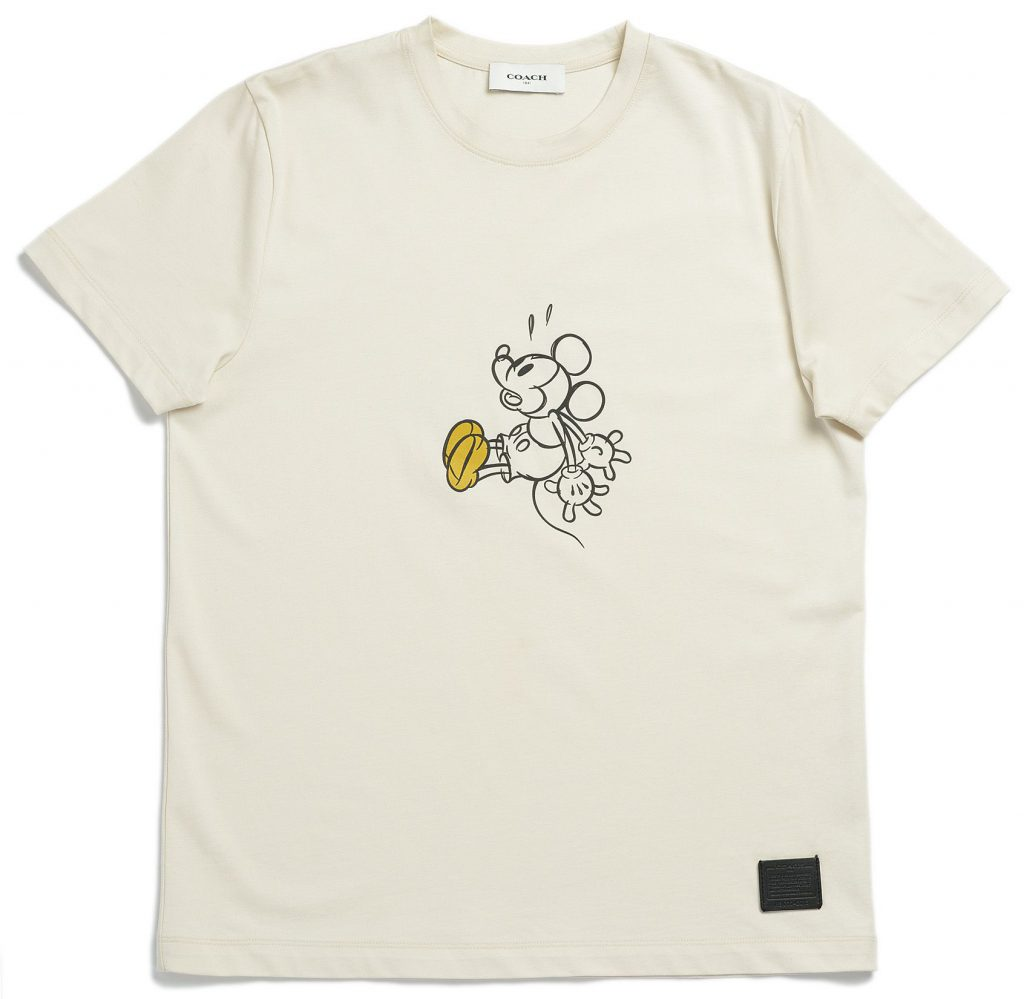Disney and Coach work together. Milk color t-shirt