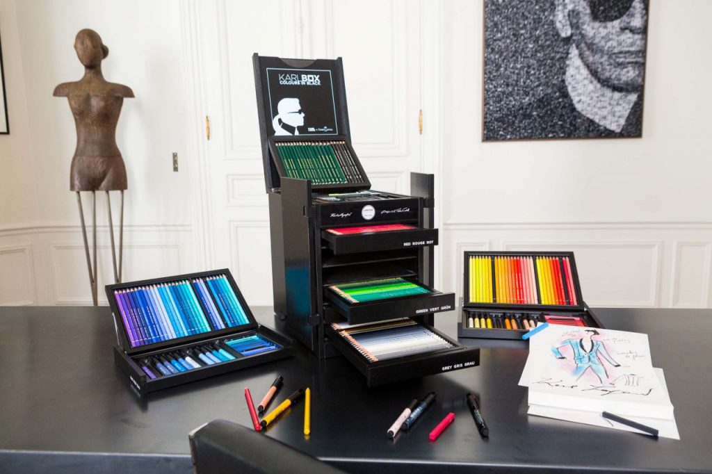 Faber Castell collaborated with Karl Lagerfeld