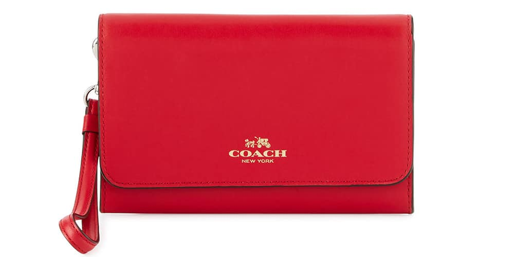 Coach Leather Phone Wristlet Wallet