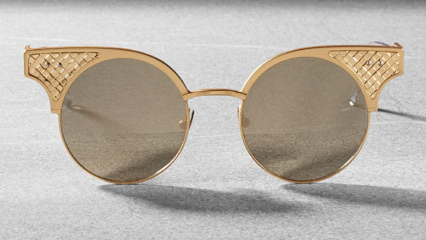 Bottega Veneta BV15 - sunglasses limited edition - gold