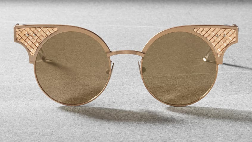 Bottega Veneta BV15 - sunglasses limited edition - rose gold