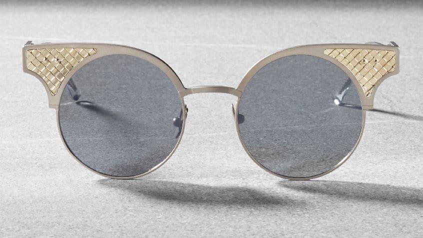 Bottega Veneta BV15 - sunglasses limited edition - silver