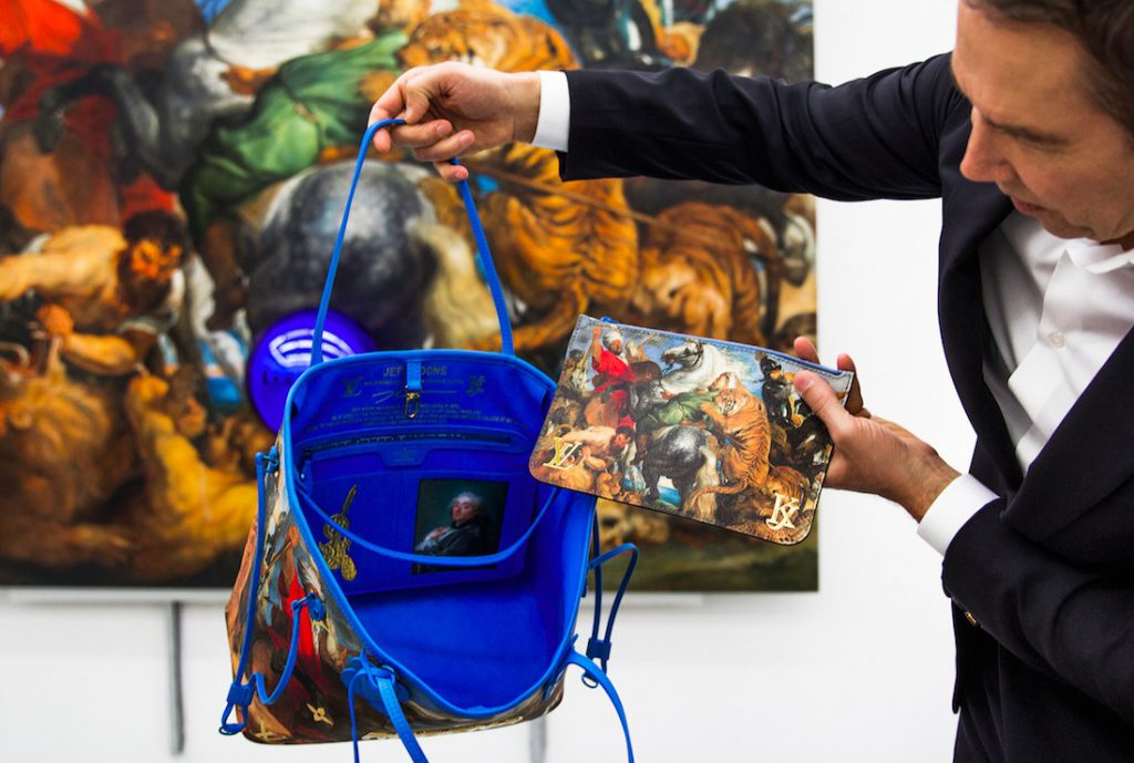 Louis Vuitton collaborated Jeff Koons