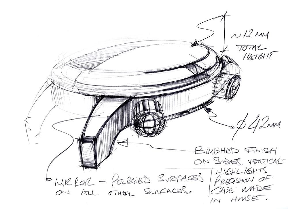 L.U.C Time Traveler One - Sketch 1 - Case