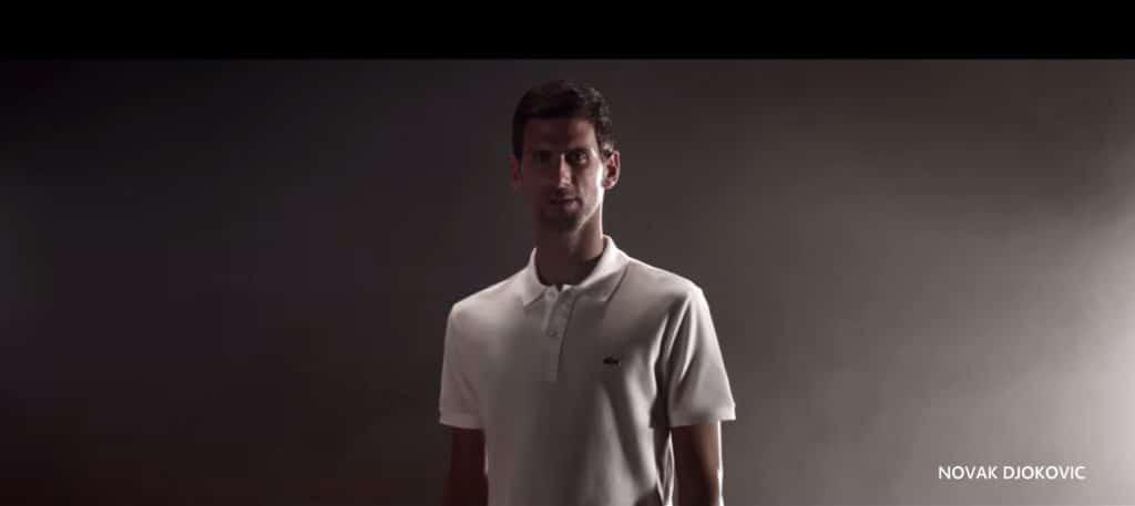 Djokovic ambassador Lacoste