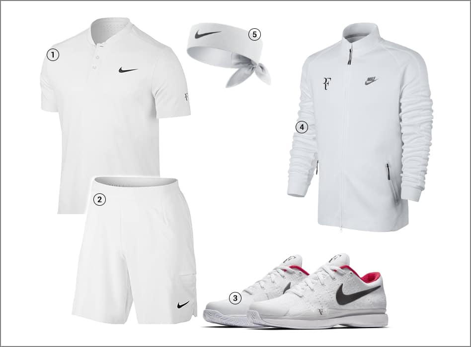 Roger Federer Nike Outfit - Wimbledon