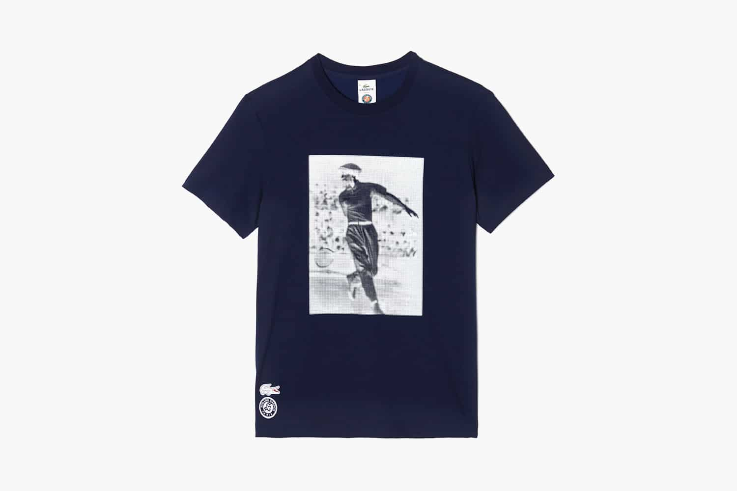 36a638faf7b For RG 2015 Lacoste create 2 collections  1 – was placed Rene Lacoste  stylized silhouette and 2-nd – text