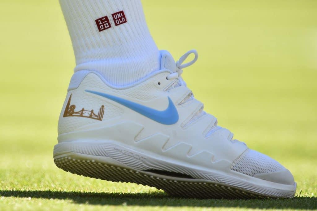 wimbledon 2018 - roger federer - nike sneakers