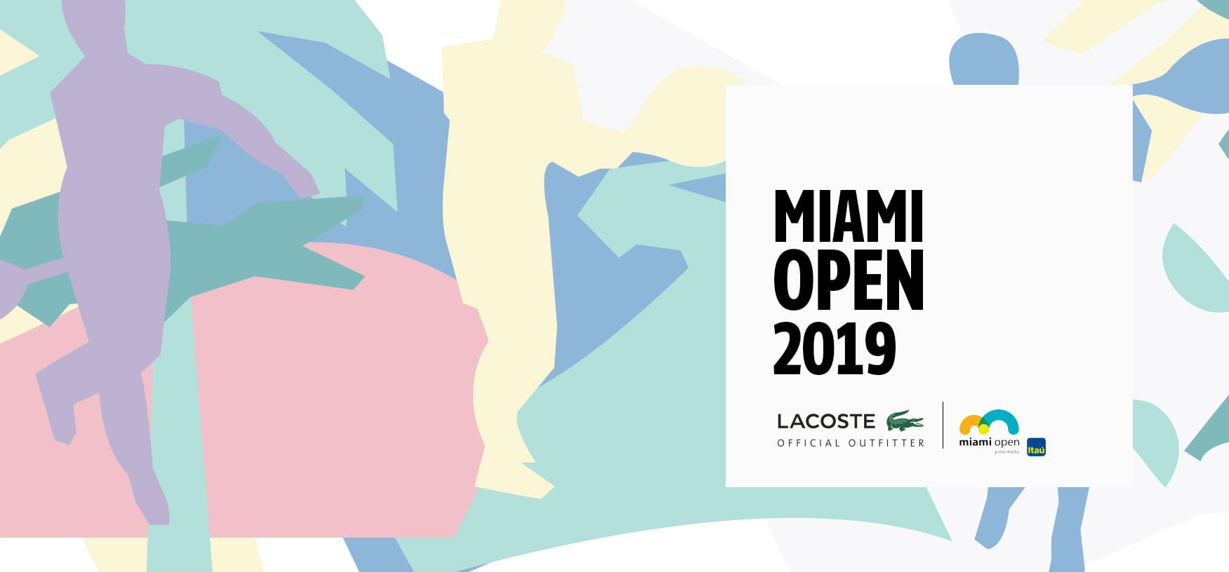 Lacoste offictial outfitter at Miami Open 2019